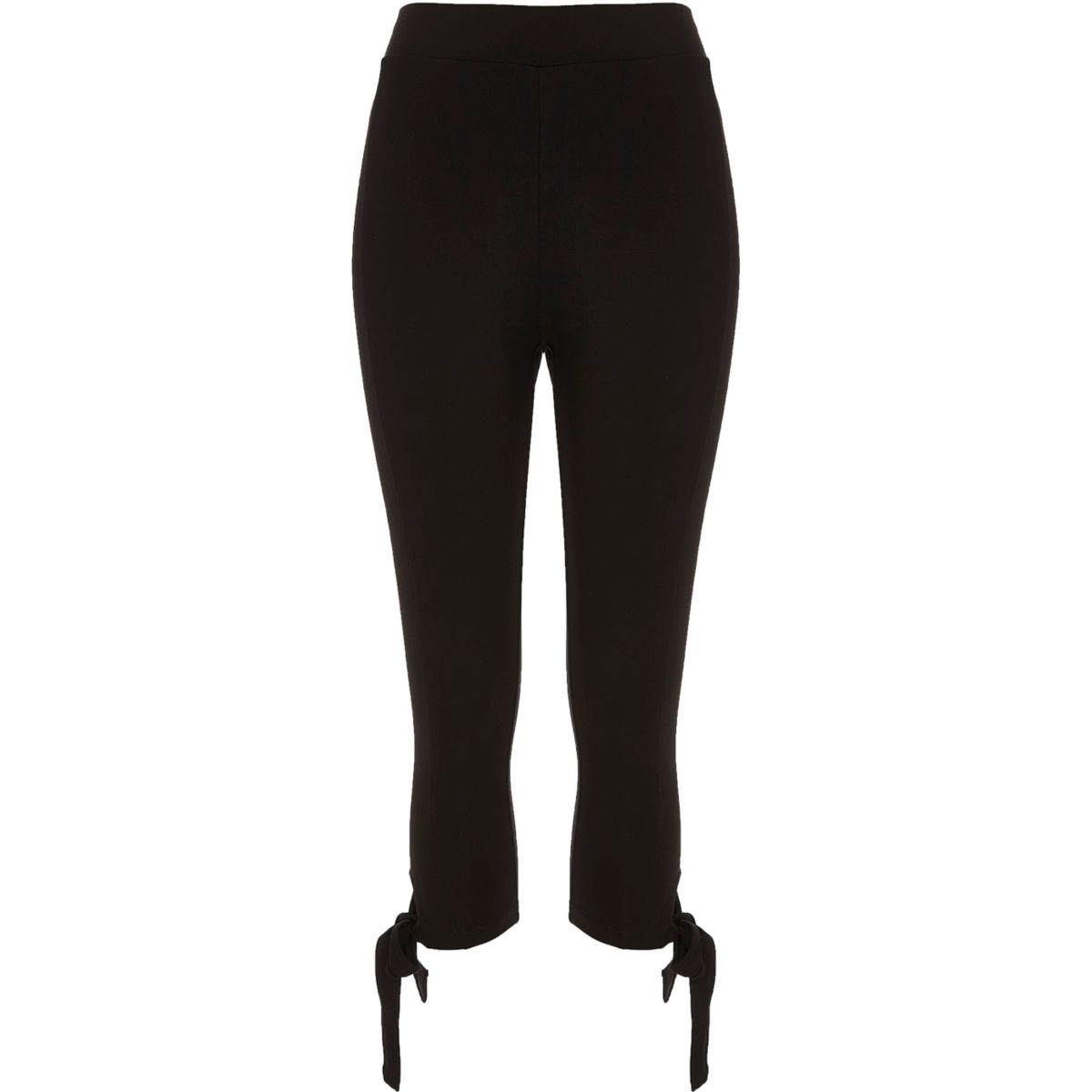 Black ponte bow leggings