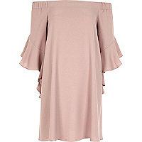 Pinkes Swing-Kleid in Nude