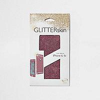 Pink iPhone 6 glitter wrap case