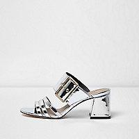 Mules in Silber-Metallic