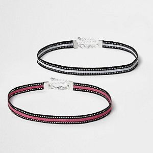 Pink stripe sports choker pack
