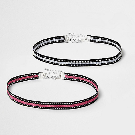 Pink stripe sports choker pack