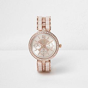 Roségoudkleurig horloge met stras