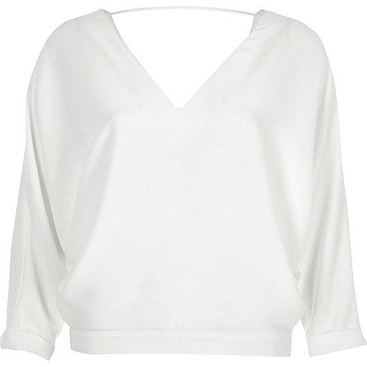 Cream batwing top