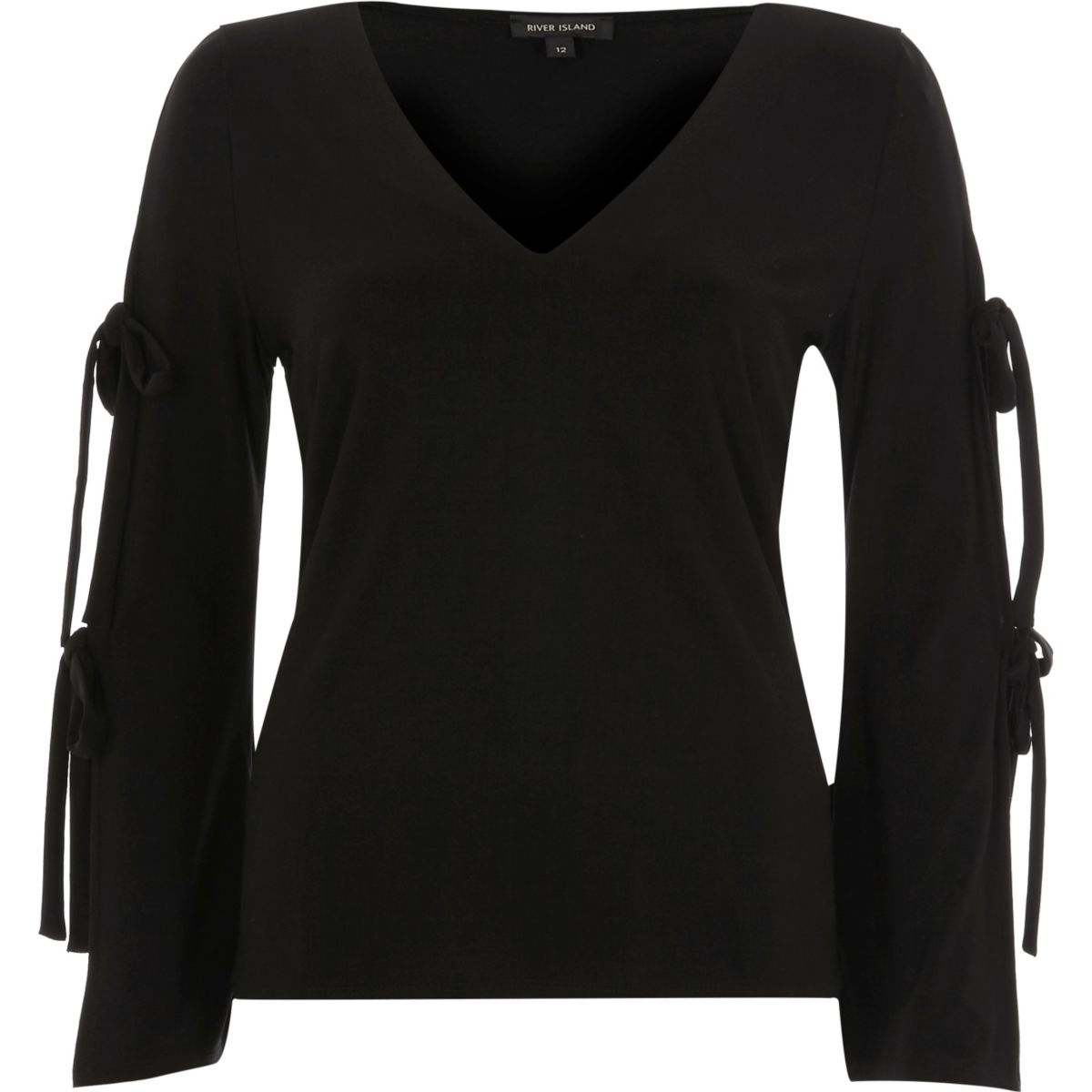 Black tied sleeve top