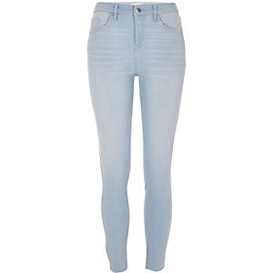 Light blue cut hem super skinny Amelie jeans