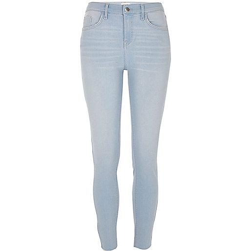 Light blue cut hem super skinny Amelie jeans