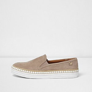 Light blue slip on espadrilles