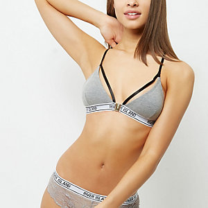 Grey sporty bra
