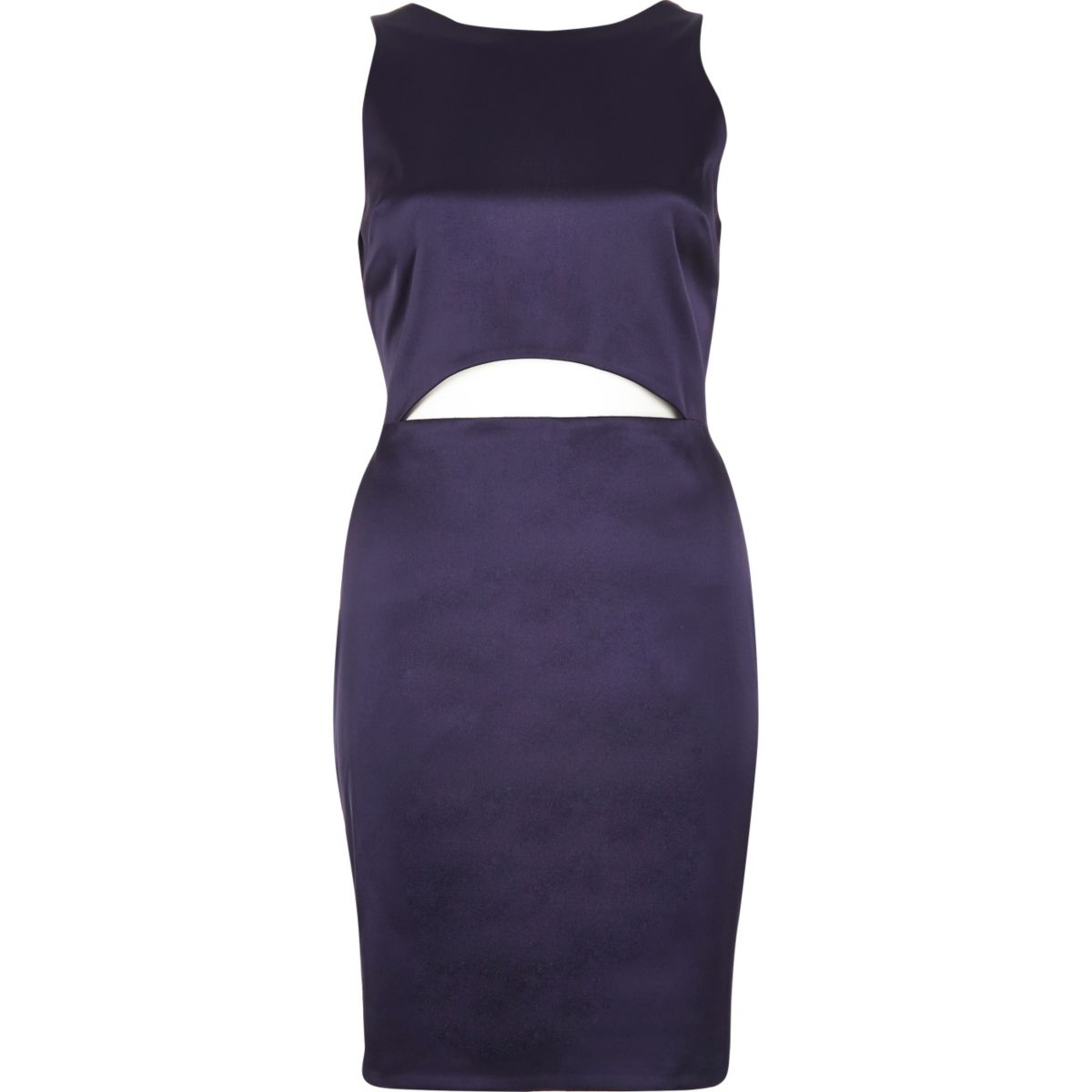 Dark purple cut-out mini dress