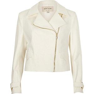 Cream biker jacket