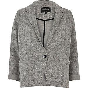Grey marl jersey blazer