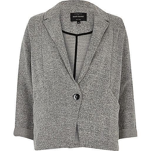 Blazer en jersey gris chiné