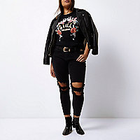 Plus black Alannah relaxed skinny jeans