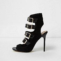 Zwarte sandalen met gespen
