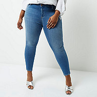 Plus mid blue wash Molly jeggings