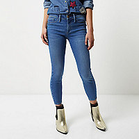 Petite mid blue wash Molly jeggings