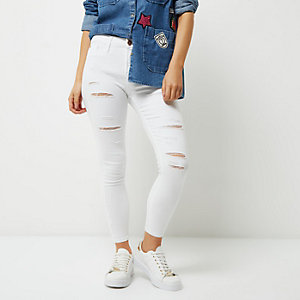 RI Petite - Molly witte ripped jegging
