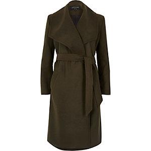 Dark khaki green robe coat