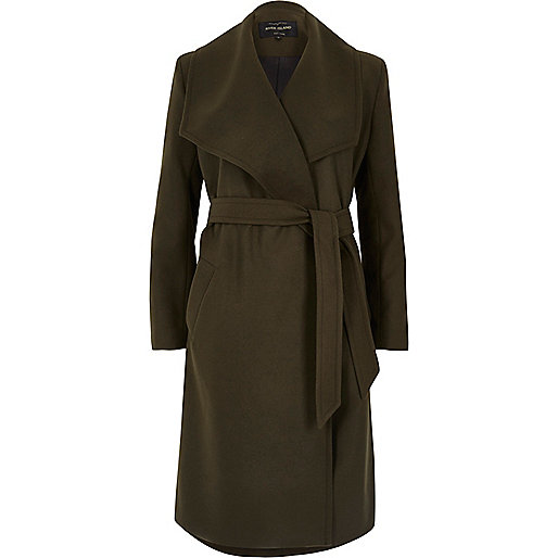 Dark khaki green robe coat