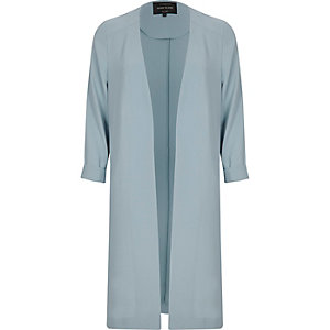 Light blue duster jacket