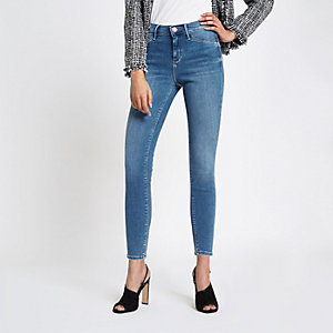 Molly – Mittelblaue Skinny Jeans