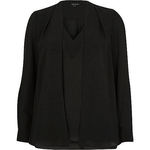 Black 2 in 1 blouse