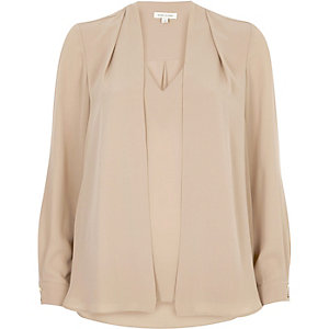 Blush pink 2 in 1 blouse