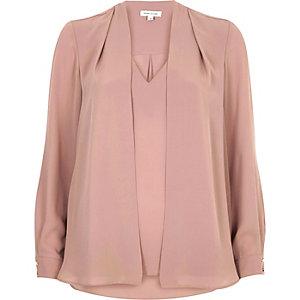 Dark pink 2 in 1 blouse