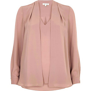 Dark pink 2 in 1 blouse