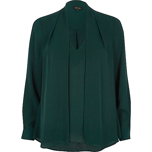 Green 2 in 1 blouse