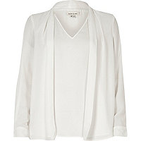 White 2 in 1 blouse