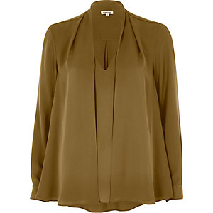 Khaki green 2 in 1 blouse