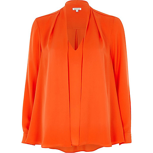 Orange 2 in 1 blouse