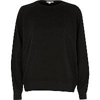Black distressed sweatshirt