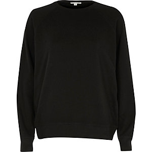 Black nibbled sweatshirt