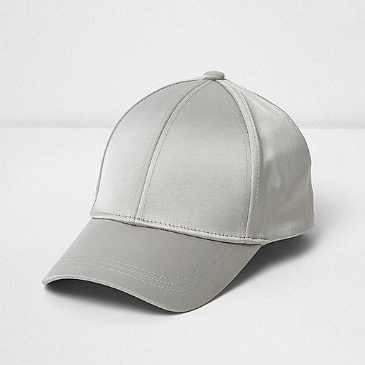 Grey satin cap