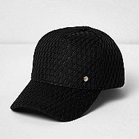 Black mesh sports cap