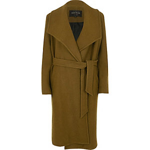Khaki green robe coat