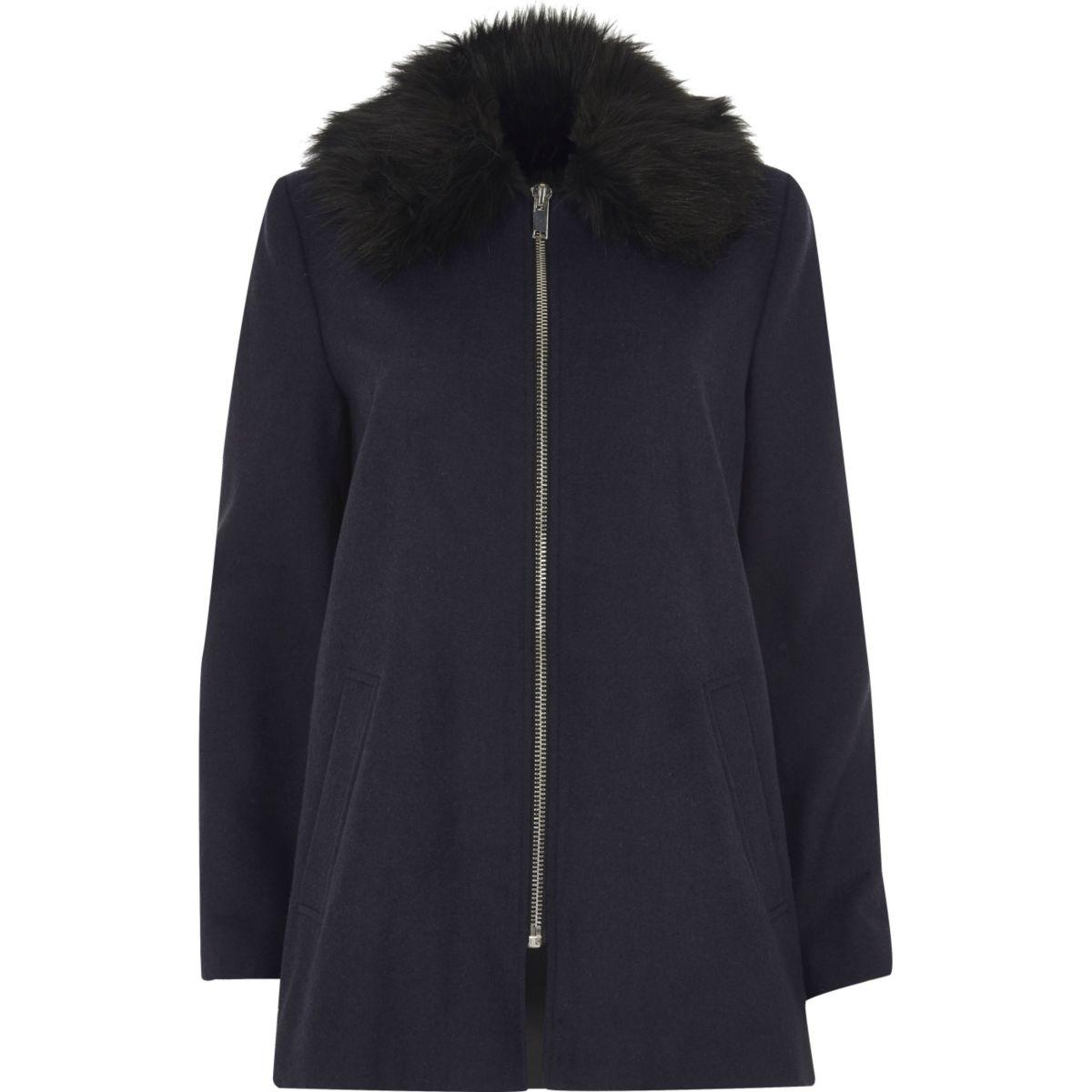 63a17eb3c75f Dark Blue Fox Fur Etol Haute Acorn