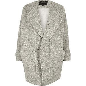 Grey marl fallaway jacket