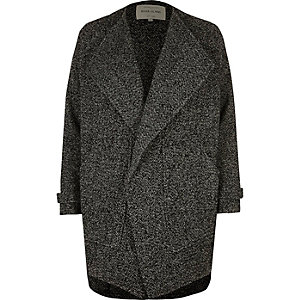 Black textured fallaway jacket