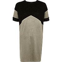 Schwarzes Oversized-T-Shirt in Blockfarben