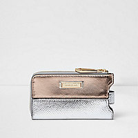 Metallic phone holder purse