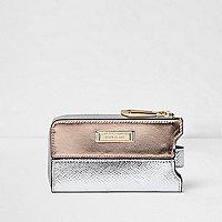 Metallic phone holder purse