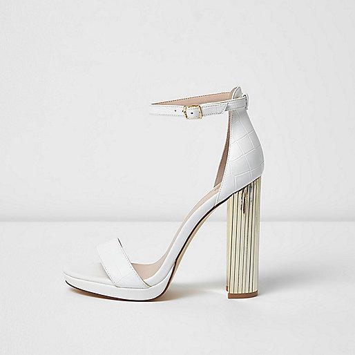 Sandales à plateforme minimalistes blanches