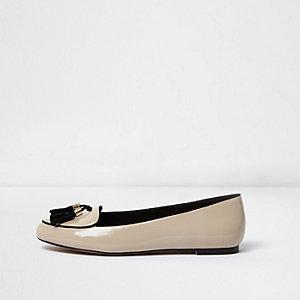 Elegante Loafer in Hellrosa mit Quaste