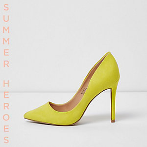 Yellow court shoes