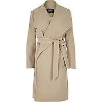Beige robe coat