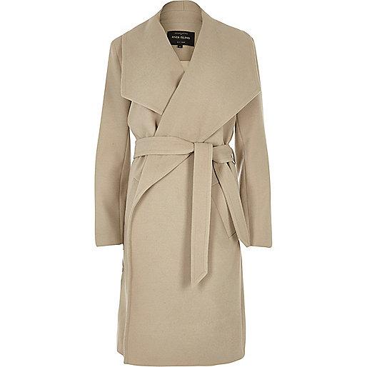Beige robe coat